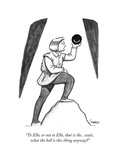 """To Ello, or not to Ello, that is the...wait, what the hell is this thing …"" - New Yorker Cartoon Premium Giclee Print by Benjamin Schwartz"