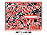 Untitled Pop Art Impression giclée par Keith Haring