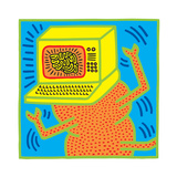 Untitled Pop Art Lámina giclée por Keith Haring