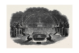 Firework Temple at Vauxhall, Great Britain Giclee Print