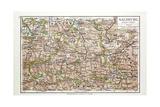 Map of Salzburg Austria 1899 Giclee Print
