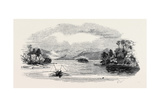 Lake Trout Fishing, in Derwent Water Impression giclée