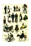 Switzerland Swiss Folk in 1883 Giclee Print