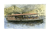 Venice Canal Steamboat Italy 1892 Giclee Print