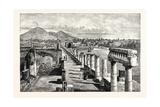 The Forum Pompeii Giclee Print