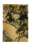 Macaques Giclee Print