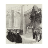 Enthronement of the New Bishop of London, in St Paul's Cathedral Giclee Print