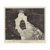 On the Way to Klondyke, Shooting Rapids on the Yukon Giclee Print