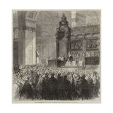Enthronement of the Bishop of London in St Paul's Cathedral Giclee Print