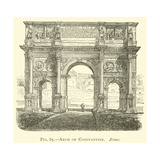 Arch of Constantine, Rome Giclee Print