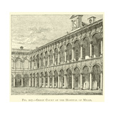 Great Court of the Hospital of Milan Giclee Print