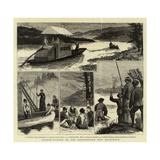Salmon-Fishing on the Restigouche, New Brunswick Giclee Print