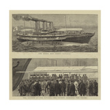 The Launch of the Czar's New Yacht Livadia Giclee Print