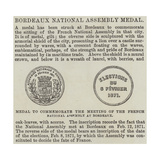 Bordeaux National Assembly Medal Giclee Print