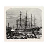 Embarking Cotton at Savannah, USA, 1870s Giclee Print