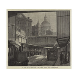 A Peep at St Paul's and The Times Office from Underground Giclee Print