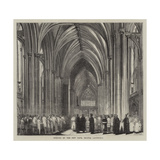Opening of the New Nave, Bristol Cathedral Giclee Print