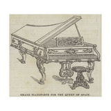 Grand Pianoforte for the Queen of Spain Giclee Print