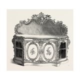 White and Gold Cabinet, 1851 Giclee Print