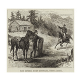 Pony Express, Rocky Mountains, North America Giclee Print