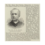 The Reverend H B Bowlby, Bishop-Elect of Coventry Giclee Print