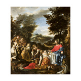 Christ Served by Angels, C.1650-1700 Giclee Print
