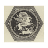 Roman Mosaic of Bellerophon and Chimaera Giclee Print