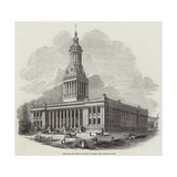 Town-Hall, in Course of Erection, at Leeds Giclee Print