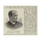 The Reverend W M Carter, Bishop-Designate of Zululand Giclee Print
