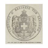 The New Coat of Arms of the Kingdom of Greece Giclee Print