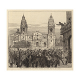 The Revolution in Peru, Scene on the Plaza at Lima Giclee Print