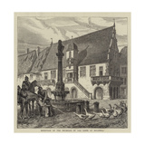Reception of the Prussians by the Geese of Molsheim Giclee Print