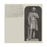 Statue of Mr John Bright at Birmingham Giclee Print