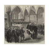 The Late Earl of Derby, the Funeral in Knowsley Church Giclee Print