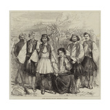 Greek Brigands Brought Prisoners to Athens Giclee Print