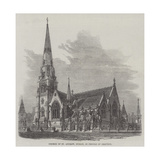 Church of St Andrew, Dublin, in Process of Erection Giclee Print