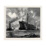 Towing the Dreadnought Hospital Ship to Her Last Berth Giclee Print
