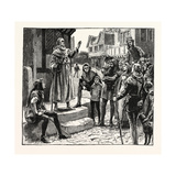 One of Wycliffe's Poor Priests Preaching to the People Giclee Print
