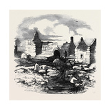 Ruins in the Village of Carihaken, County of Galway Giclee Print