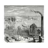 A Coal Mine in Newcastle with Wagons Drawn by Horses on Wooden Rails Giclee Print
