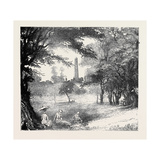 View in Phoenix Park, Dublin, Ireland Giclee Print