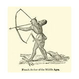 French Archer of the Middle Ages Giclee Print