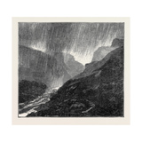A Trip to the Pyrenees: Storm-Evening Near Eaux-Bonnes Giclee Print