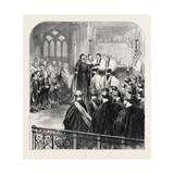Consecration at Westminster Abbey, 1870, London, UK Giclee Print