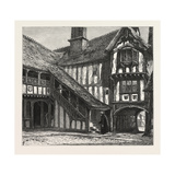 Courtyard of Leicester's Hospital, UK, 19th Century Giclee Print