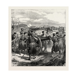 The War in Spain: a Sketch in the Battery of San Lorenzo, Near Bilbao Giclee Print