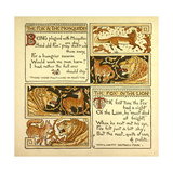 The Fox and the Mosquitoes the Fox and the Lion Giclee Print