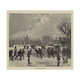 Skating at Oxford Giclee Print