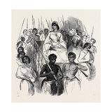 Ranavalona, Queen of Madagascar in Her State Howdah Giclee Print