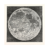 Telescopic Appearance of the Moon 1833 Giclee Print